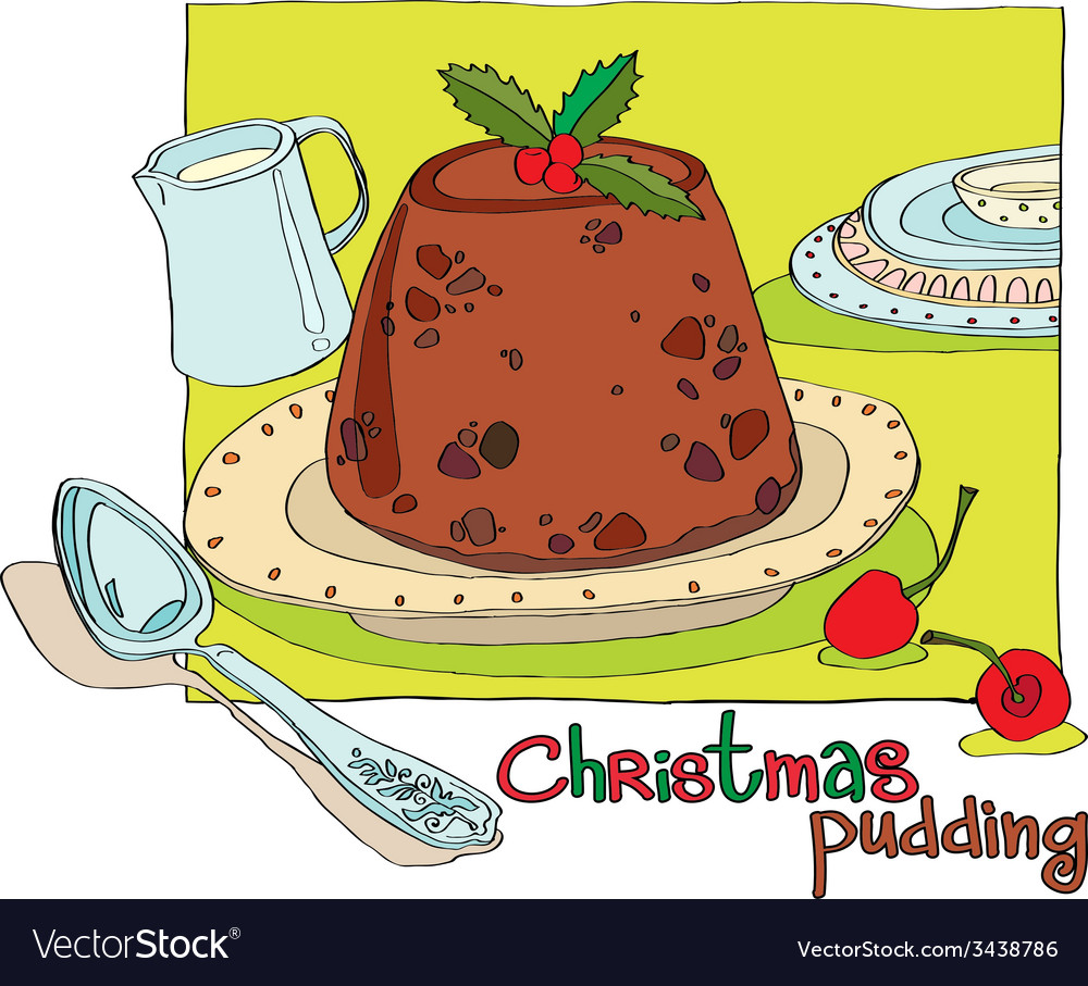 Christmas pudding vector | Price: 1 Credit (USD $1)