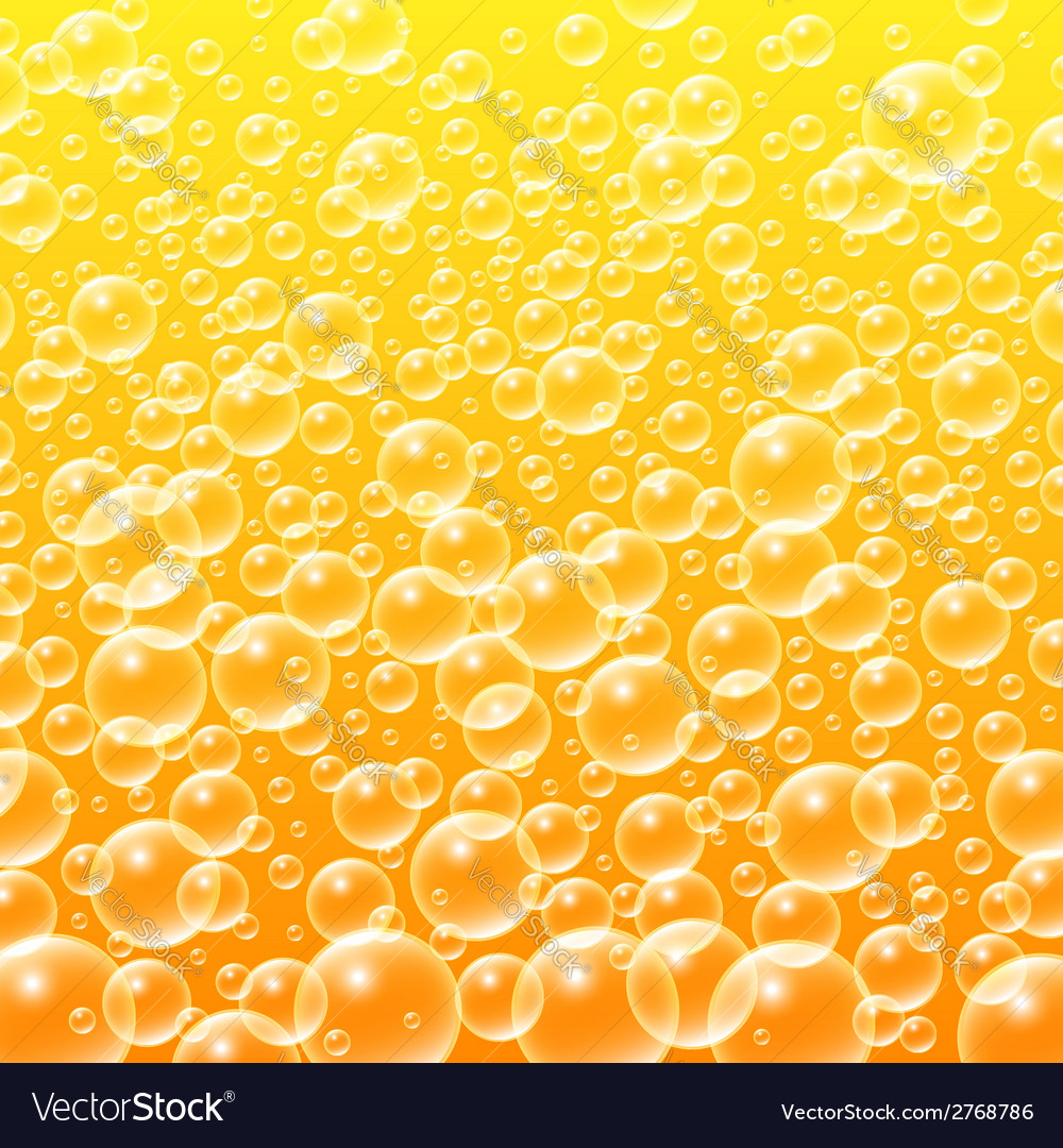 Colorful yellow water bubbles background vector | Price: 1 Credit (USD $1)