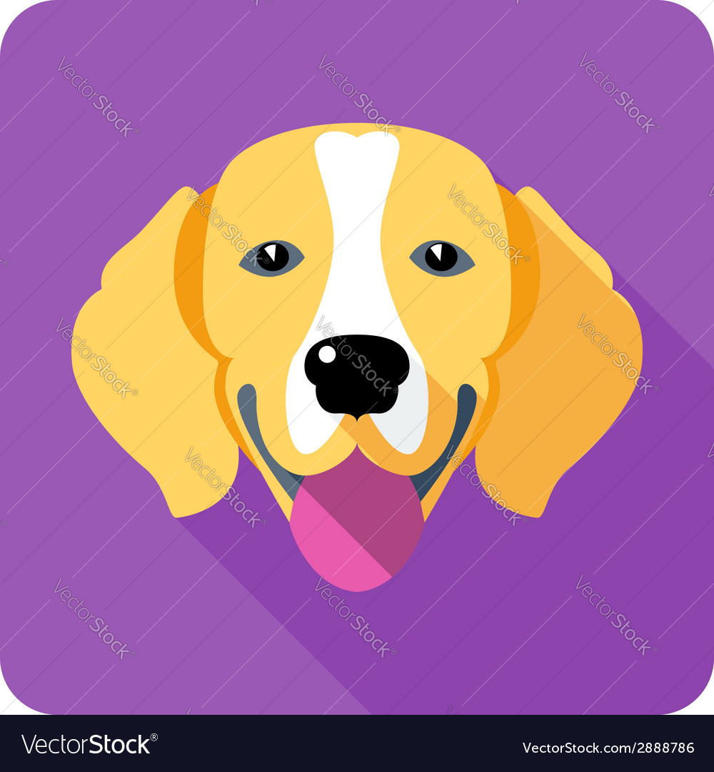 Dog beagle icon flat design vector | Price: 1 Credit (USD $1)