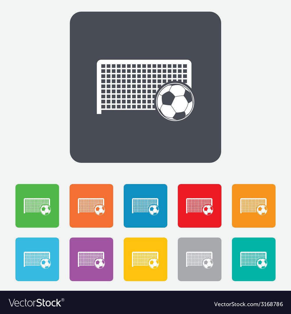 Football gate sign icon soccer sport symbol vector | Price: 1 Credit (USD $1)