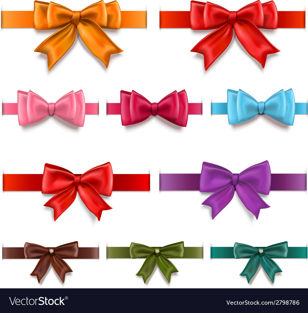 Gift ribbons set vector | Price: 1 Credit (USD $1)