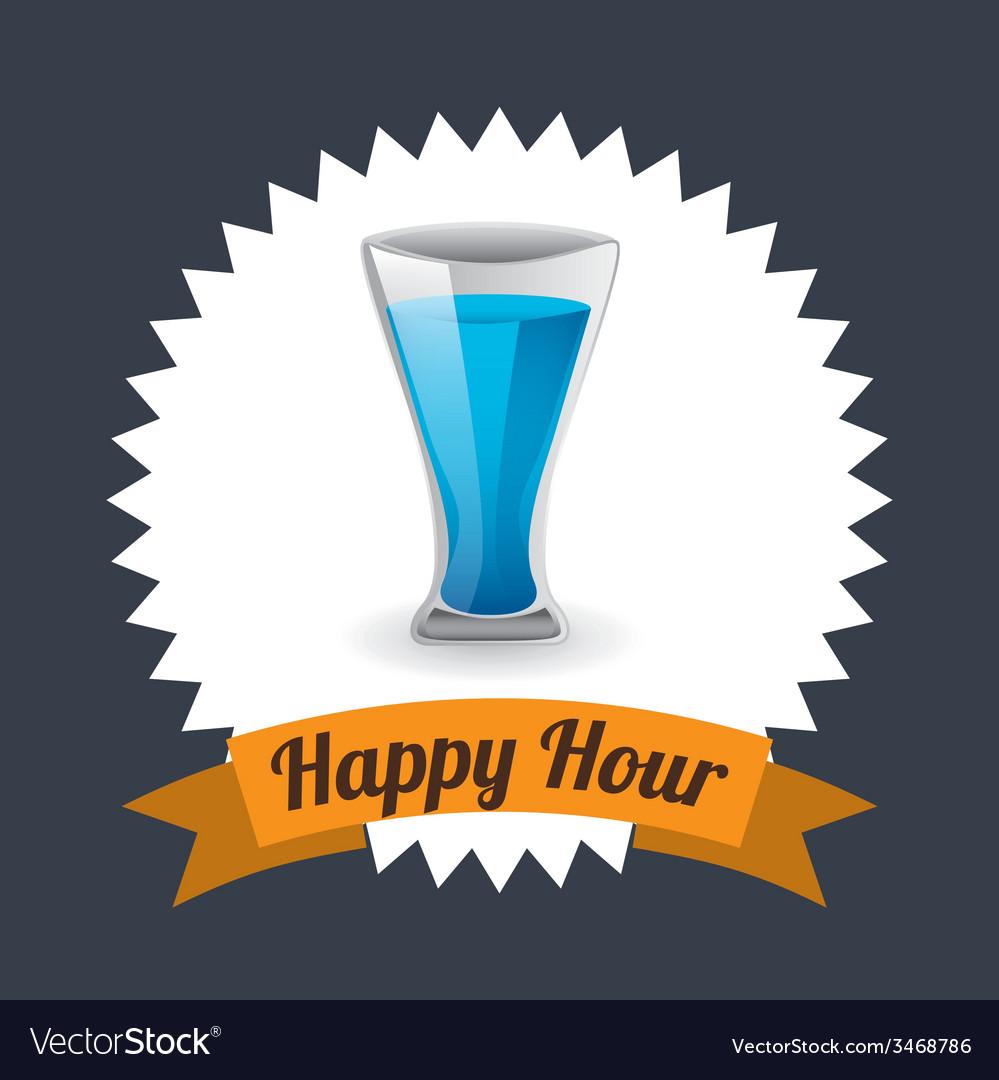 Happy hour design vector | Price: 1 Credit (USD $1)