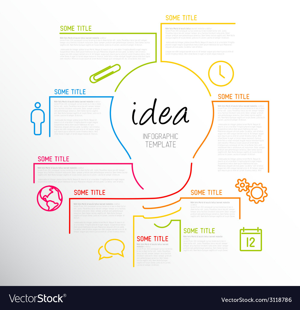 Modern idea infographic template made from lines vector | Price: 1 Credit (USD $1)