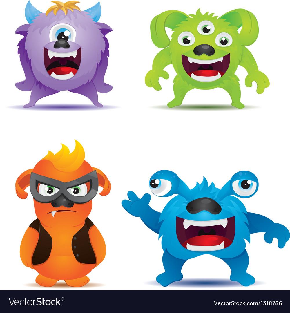 Monster set vector | Price: 3 Credit (USD $3)