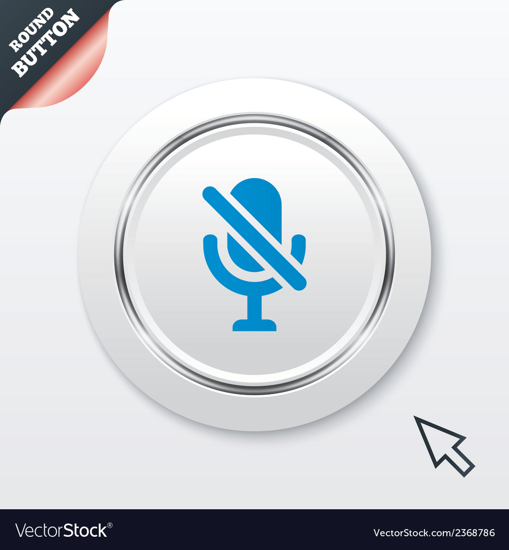 No microphone sign icon speaker symbol vector | Price: 1 Credit (USD $1)