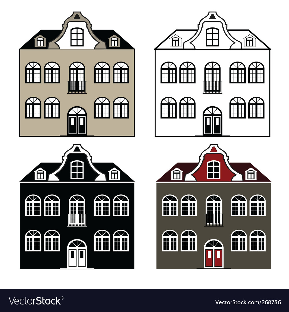 Old house vector | Price: 1 Credit (USD $1)