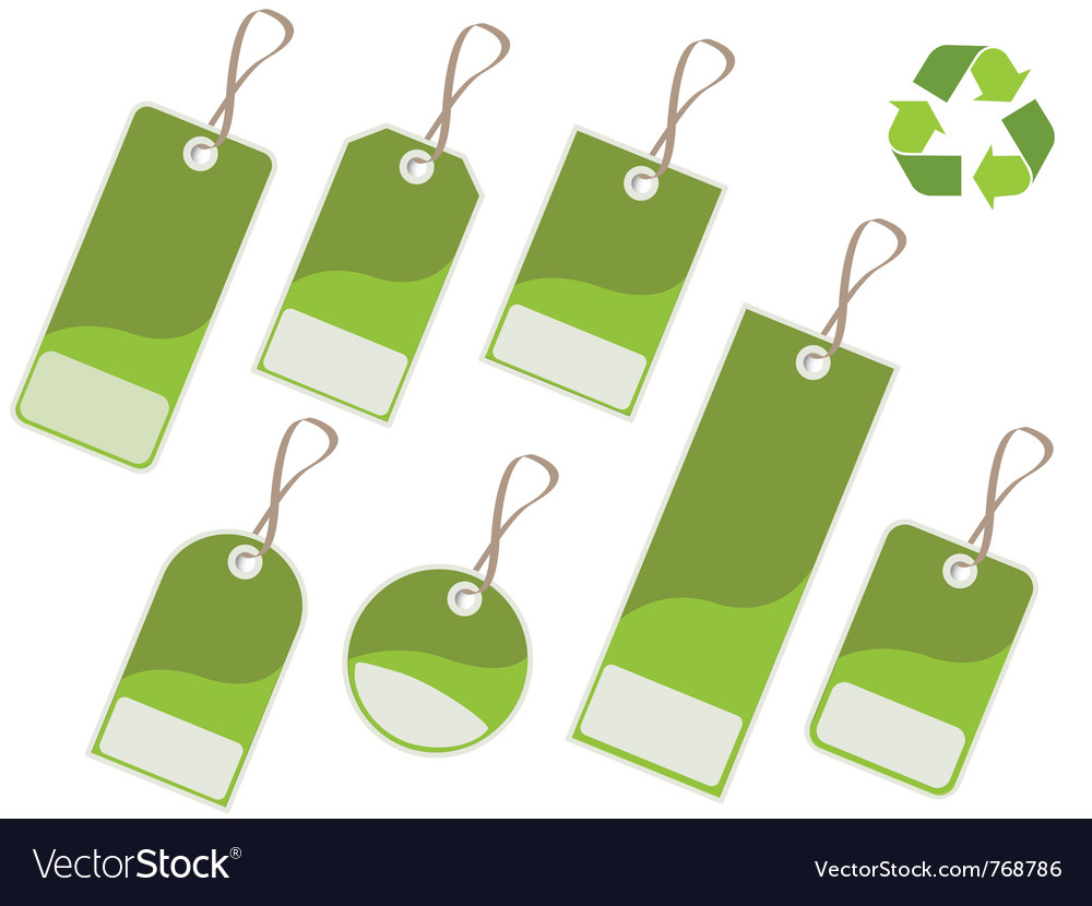Recycle tags vector | Price: 1 Credit (USD $1)