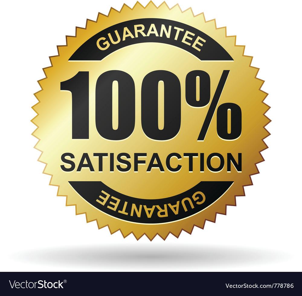 Satisfaction guarantee vector | Price: 1 Credit (USD $1)