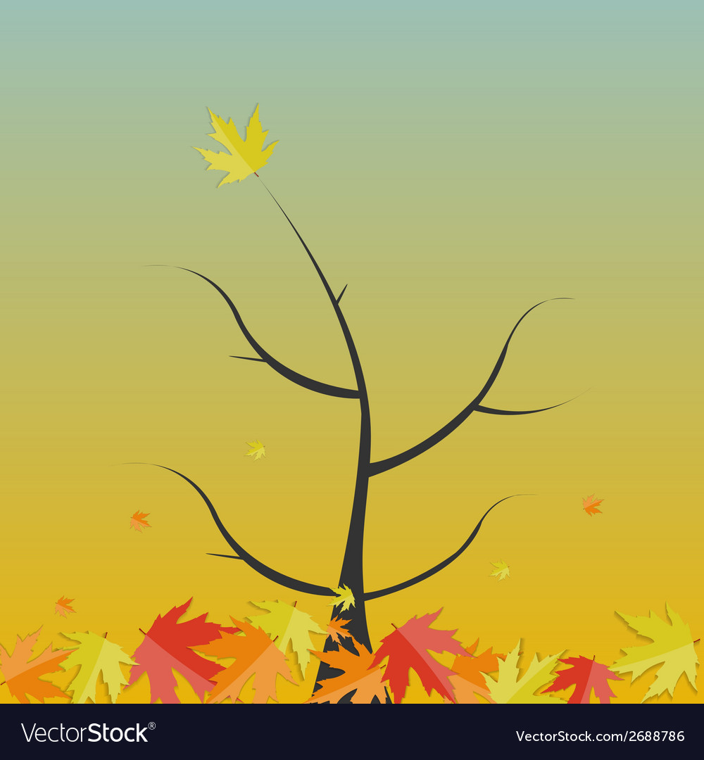 Shiny autumn natural tree background vector | Price: 1 Credit (USD $1)