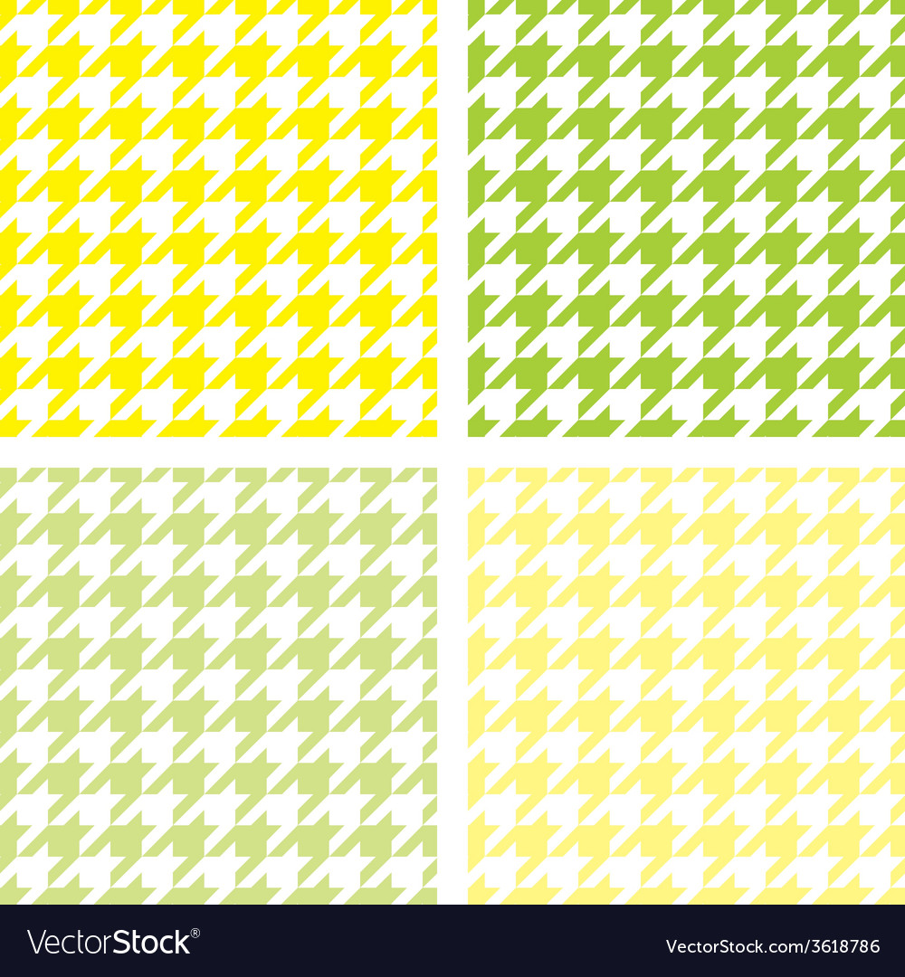 Tile houndstooth pattern green wallpaper set vector | Price: 1 Credit (USD $1)
