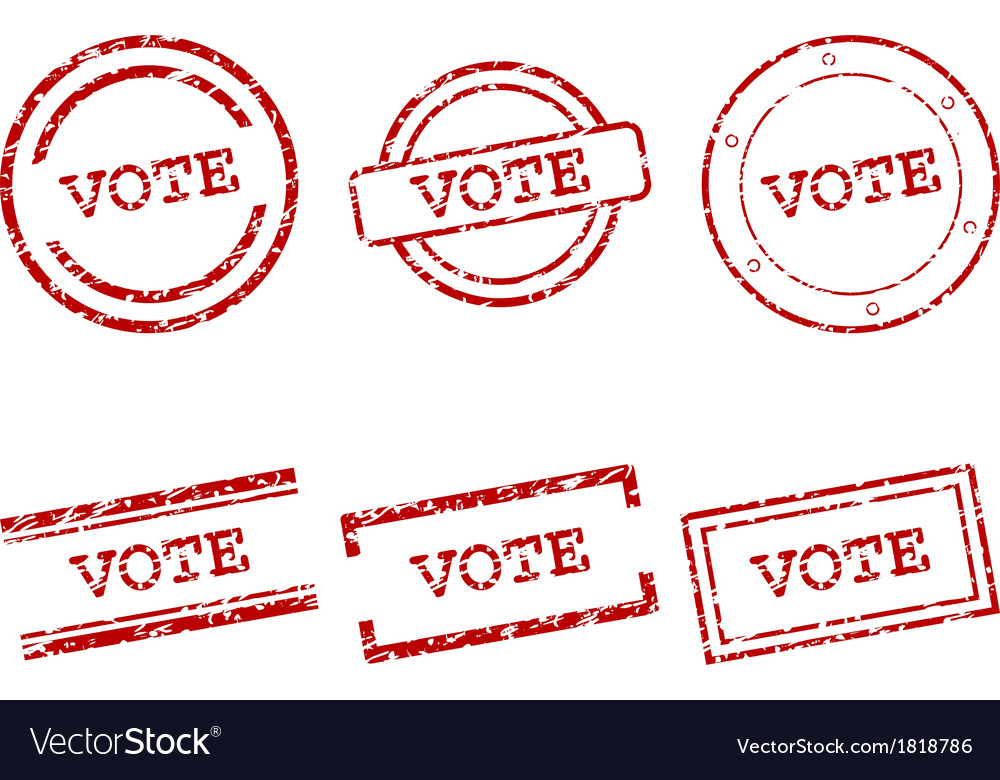 Vote stamps vector | Price: 1 Credit (USD $1)