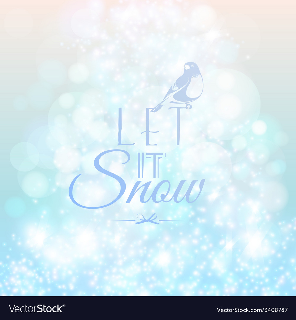 Abstract blurred lights and snow background vector | Price: 1 Credit (USD $1)