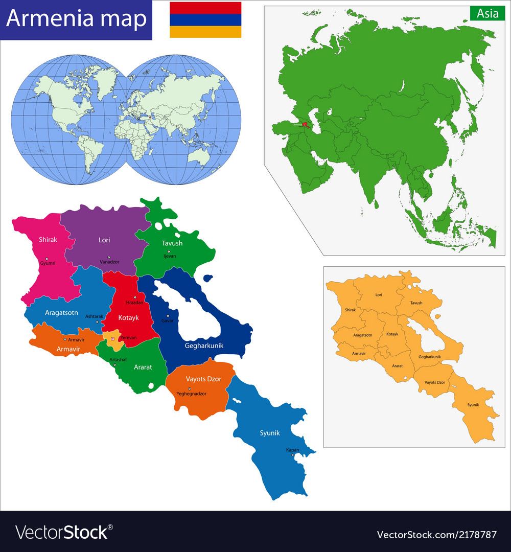 Armenia map vector | Price: 1 Credit (USD $1)