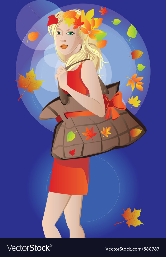 Autumn poster vector | Price: 1 Credit (USD $1)