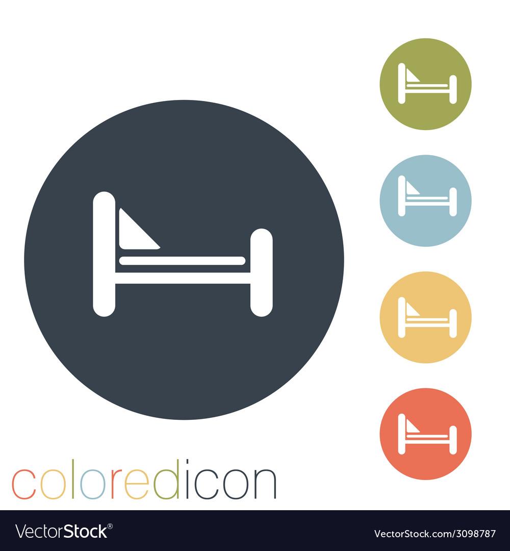 Bed symbol sign vector | Price: 1 Credit (USD $1)