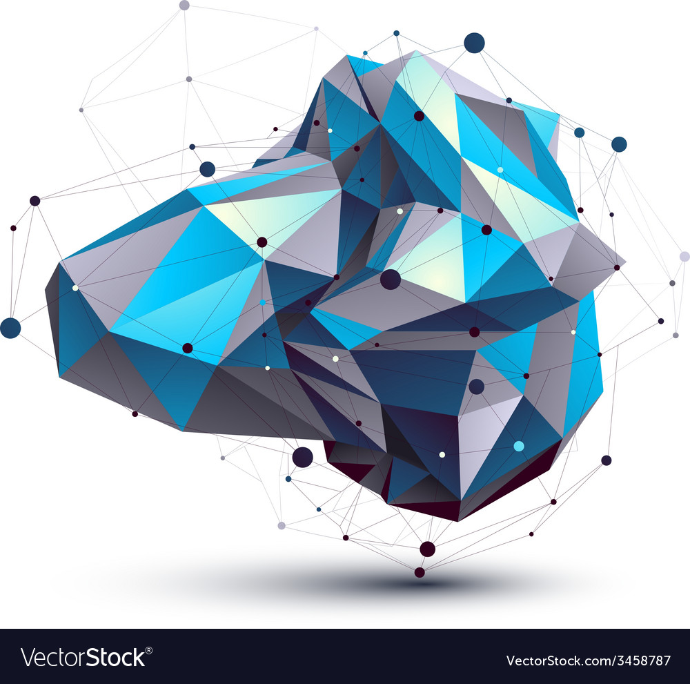Blue abstract 3d structure polygonal object cosmic vector | Price: 1 Credit (USD $1)