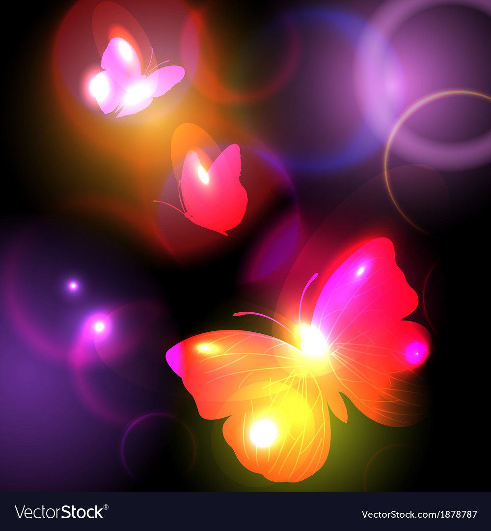 Bright background with butterflies vector | Price: 1 Credit (USD $1)