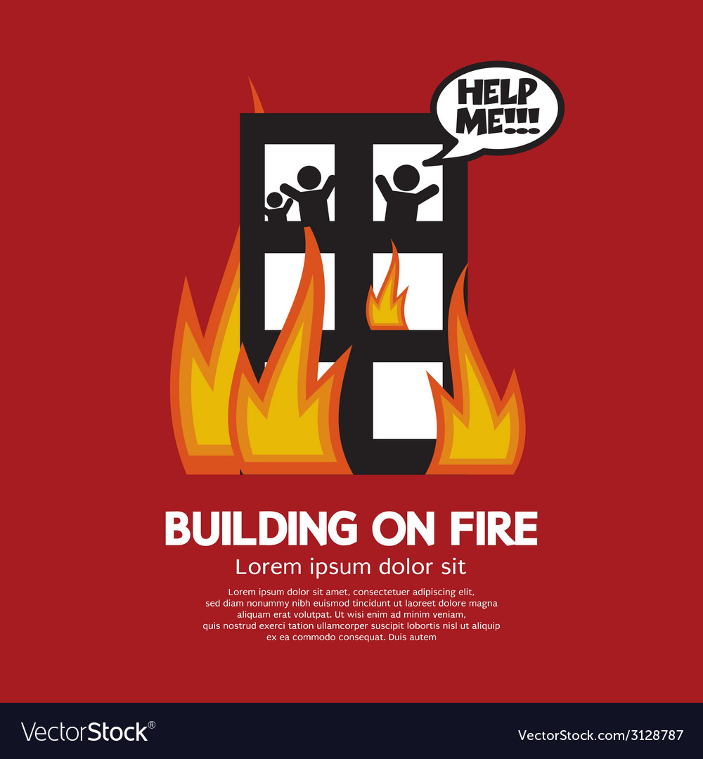 Building on fire vector | Price: 1 Credit (USD $1)