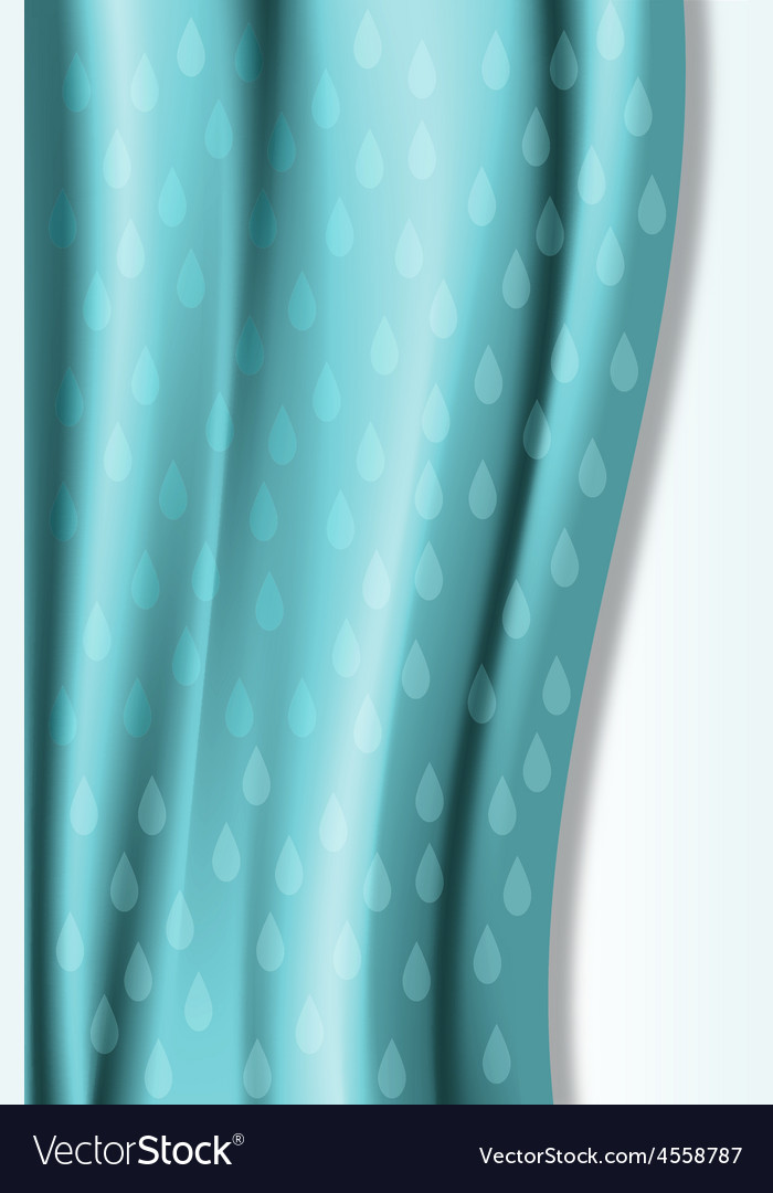 Curtain rain template card vector | Price: 1 Credit (USD $1)