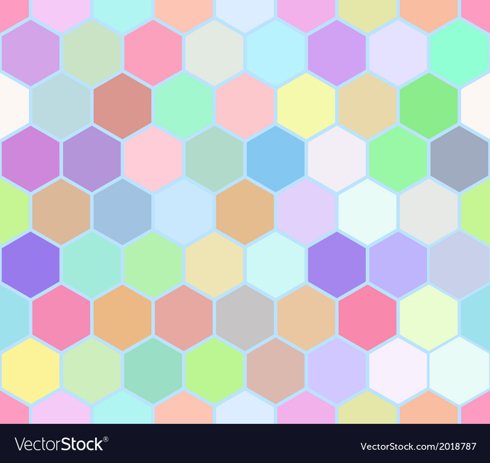 Hexahedron colorful seamless pattern vector | Price: 1 Credit (USD $1)