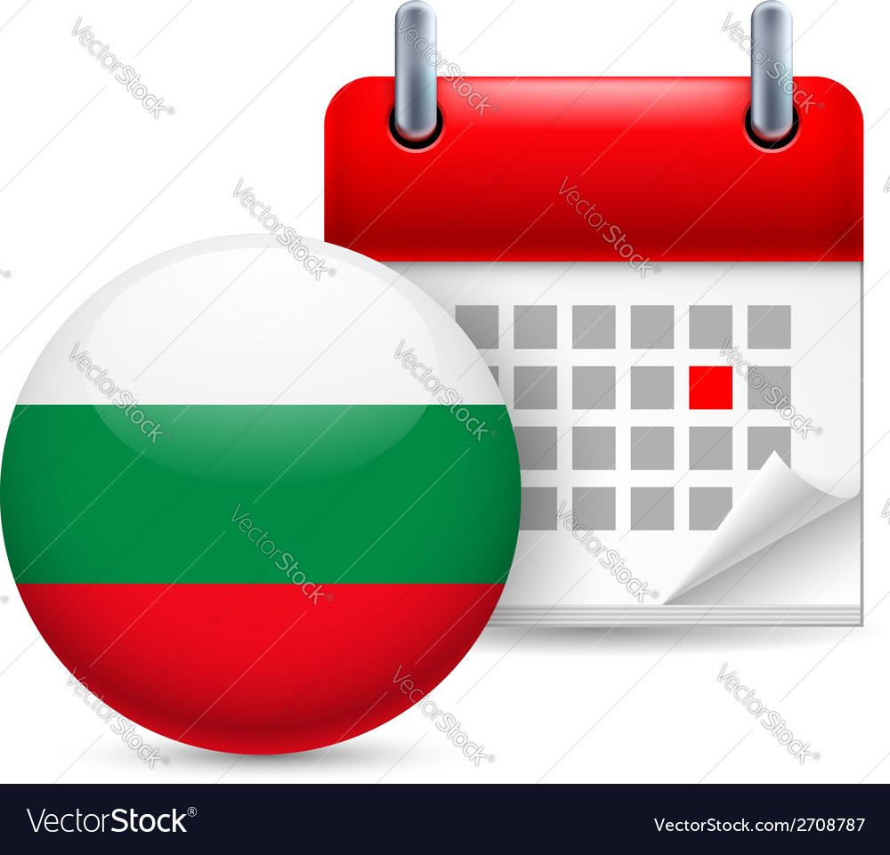Icon of national day in bulgaria vector | Price: 1 Credit (USD $1)