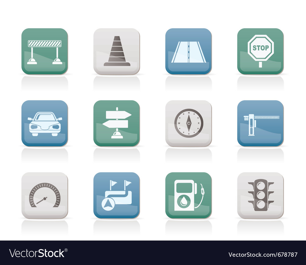 Navigation and traffic icons vector | Price: 1 Credit (USD $1)