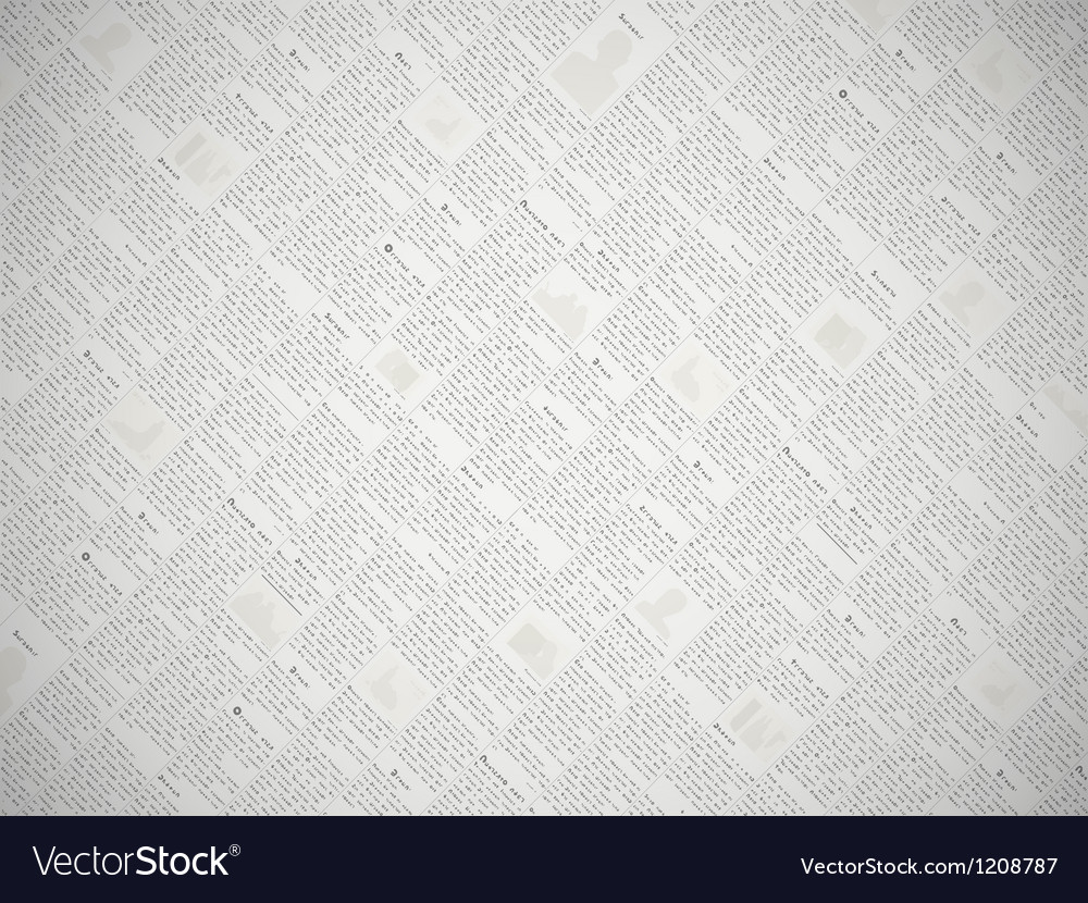 Newspaper print pattern background vector | Price: 1 Credit (USD $1)