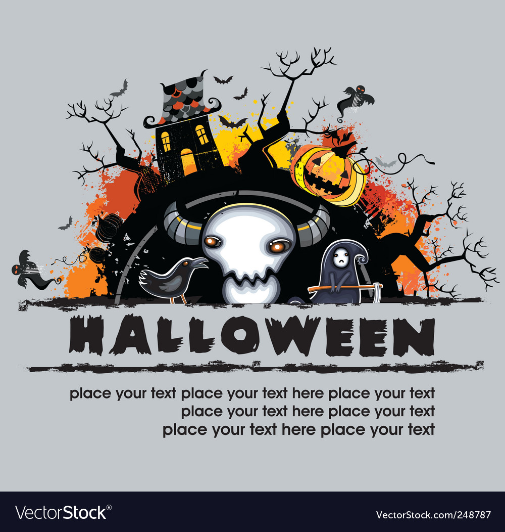 Spooky halloween composition vector | Price: 3 Credit (USD $3)