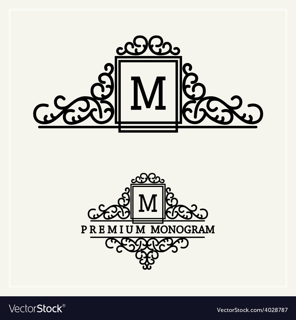 Stylish graceful monogram vector | Price: 1 Credit (USD $1)