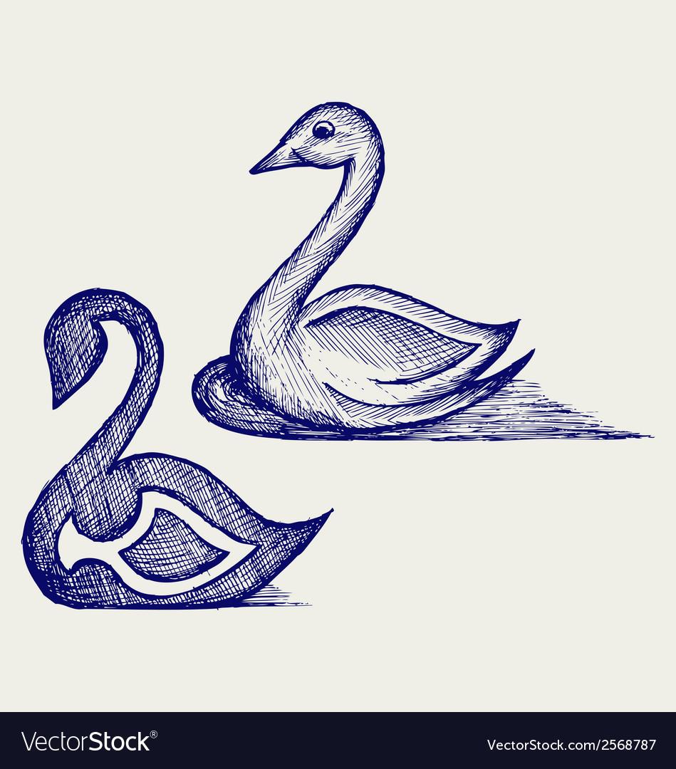 Swan sign vector | Price: 1 Credit (USD $1)
