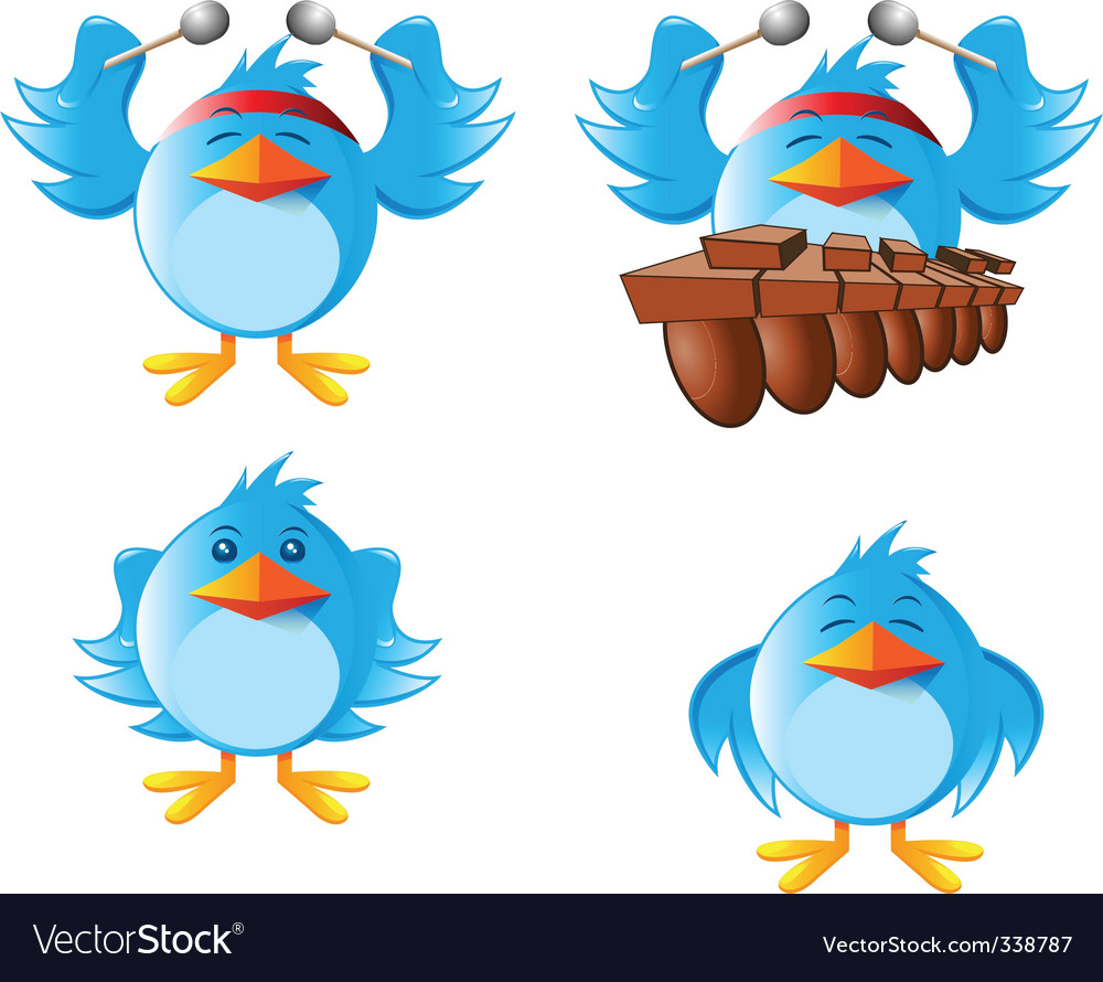 Tweeter bird vector | Price: 3 Credit (USD $3)