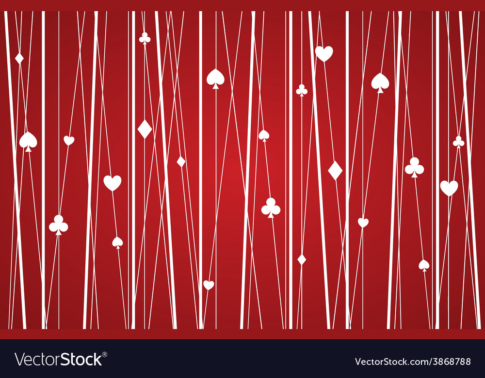 Abstract seamless poker pattern red vector | Price: 1 Credit (USD $1)