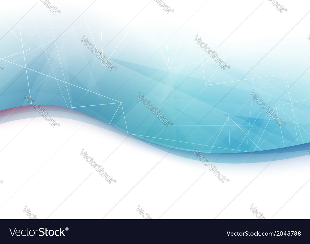 Blue wave geometrical abstract background vector | Price: 1 Credit (USD $1)