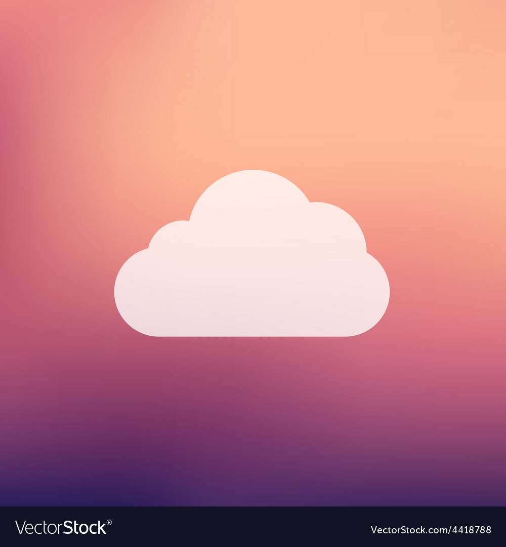 Cloud in flat style icon vector | Price: 1 Credit (USD $1)