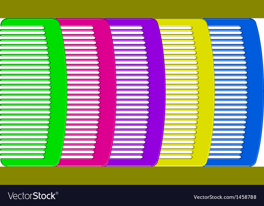 Colorful combs vector   Price: 1 Credit (USD $1)