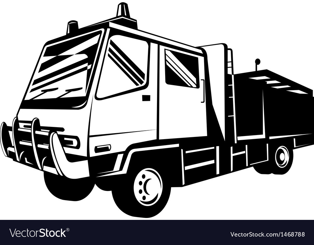 Fire truck appliance vector | Price: 1 Credit (USD $1)