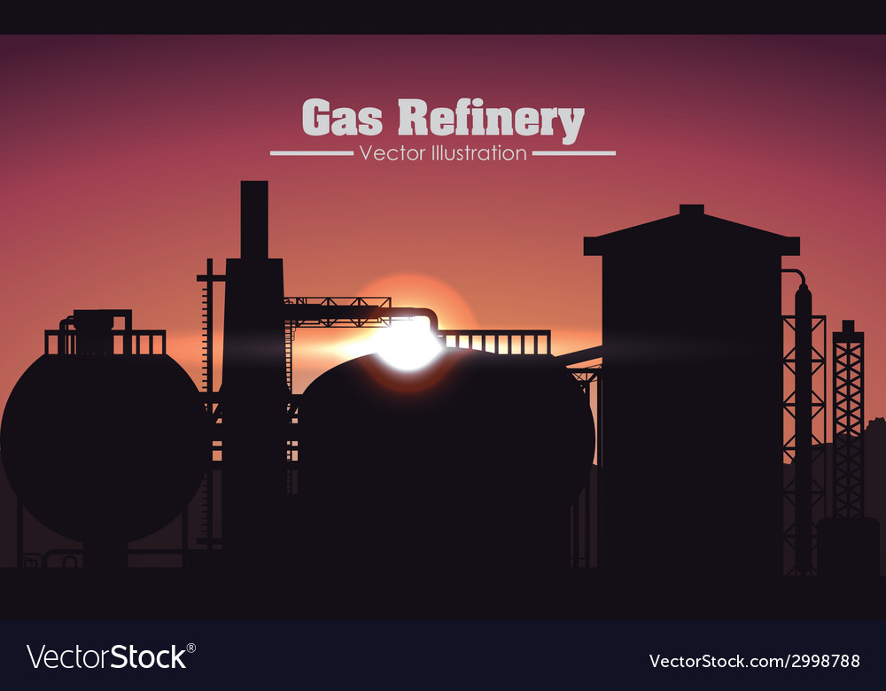 Gas refinery design vector | Price: 1 Credit (USD $1)
