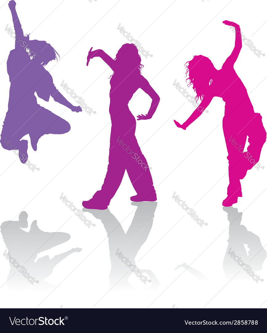 Girls dancing jazz-funk dance vector | Price: 1 Credit (USD $1)