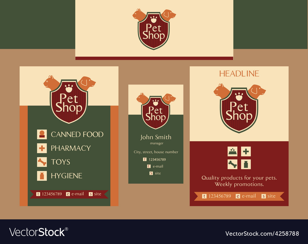 Pet shop identification vector | Price: 1 Credit (USD $1)