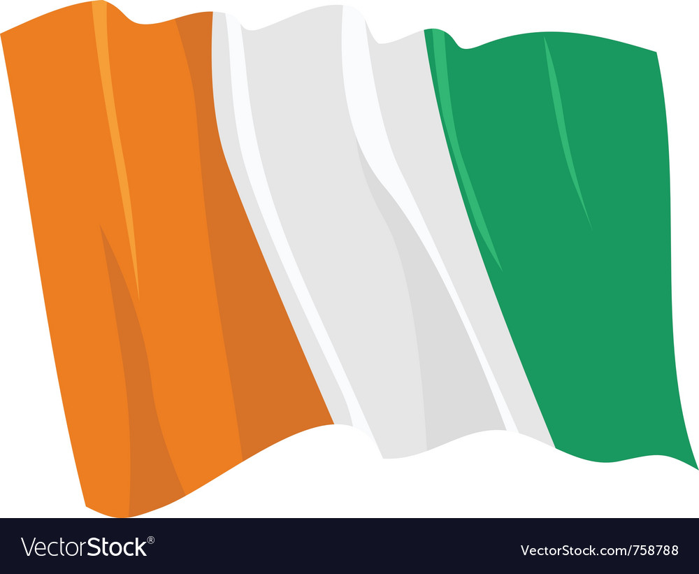 Political waving flag of ivory coast vector | Price: 1 Credit (USD $1)