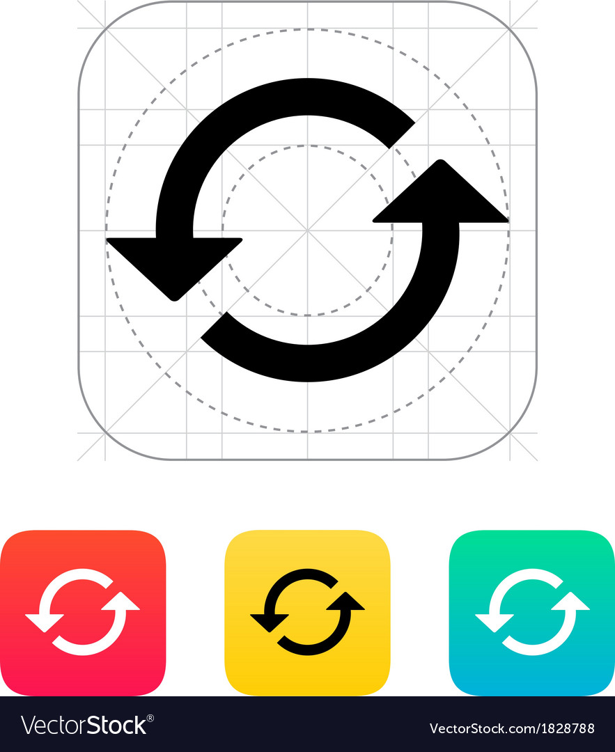 Reload icon vector | Price: 1 Credit (USD $1)