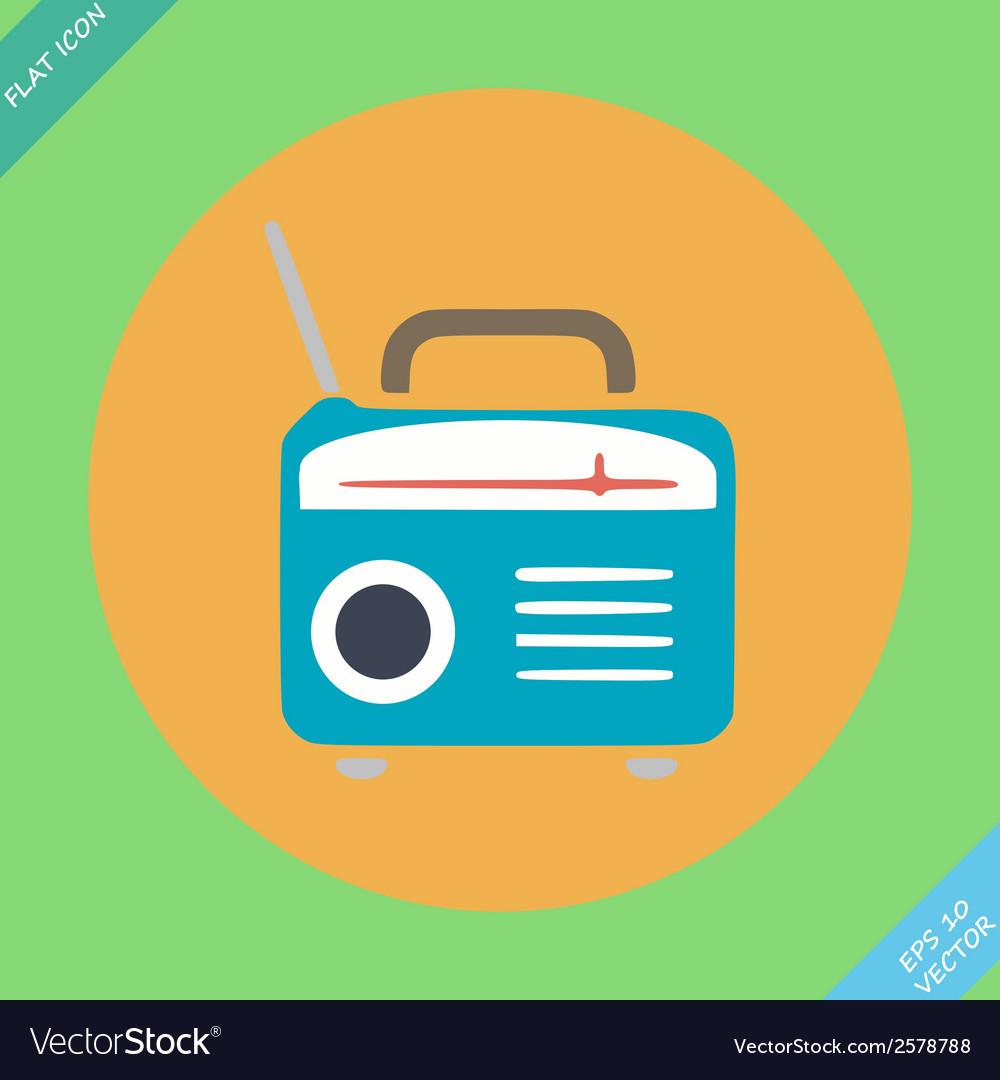 Retro radio icon - vector | Price: 1 Credit (USD $1)