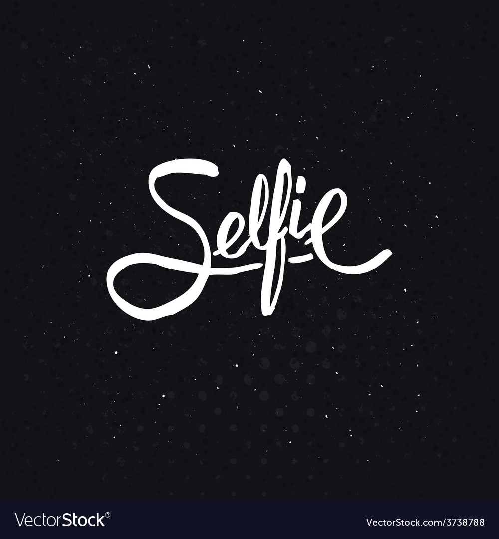 Simple text design for selfie concept vector | Price: 1 Credit (USD $1)