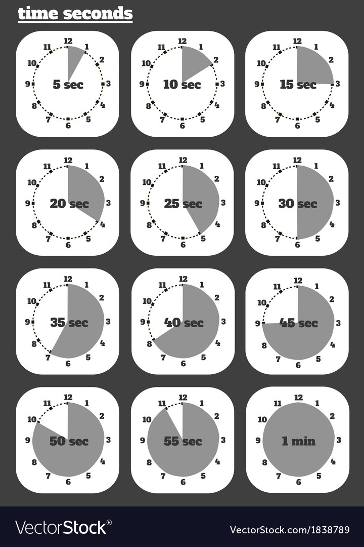 Black clocks icon vector | Price: 1 Credit (USD $1)