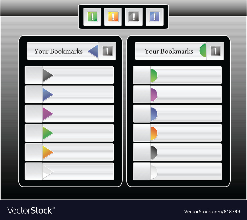 Bookmarks for site interface or iphone ipad vector | Price: 1 Credit (USD $1)