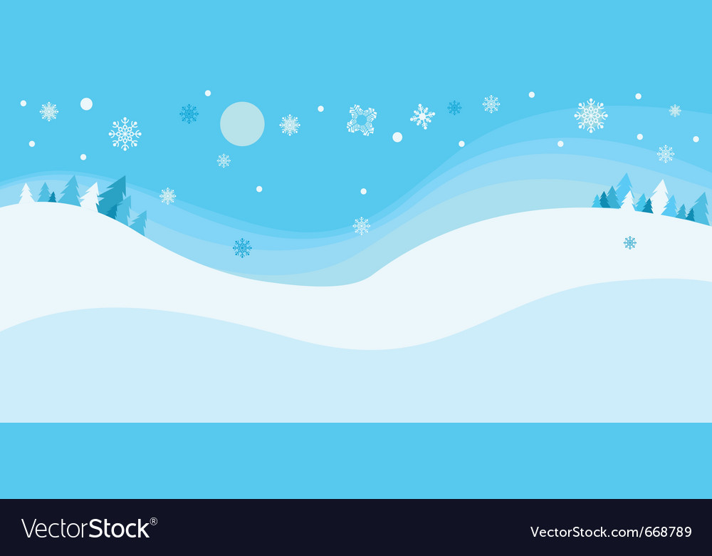 Chritsmas snow background vector