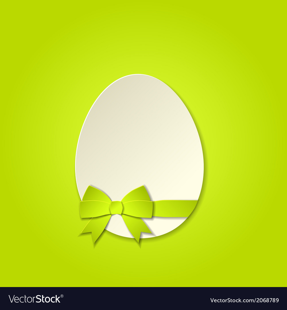 Easter egg with a bow template vector   Price: 1 Credit (USD $1)