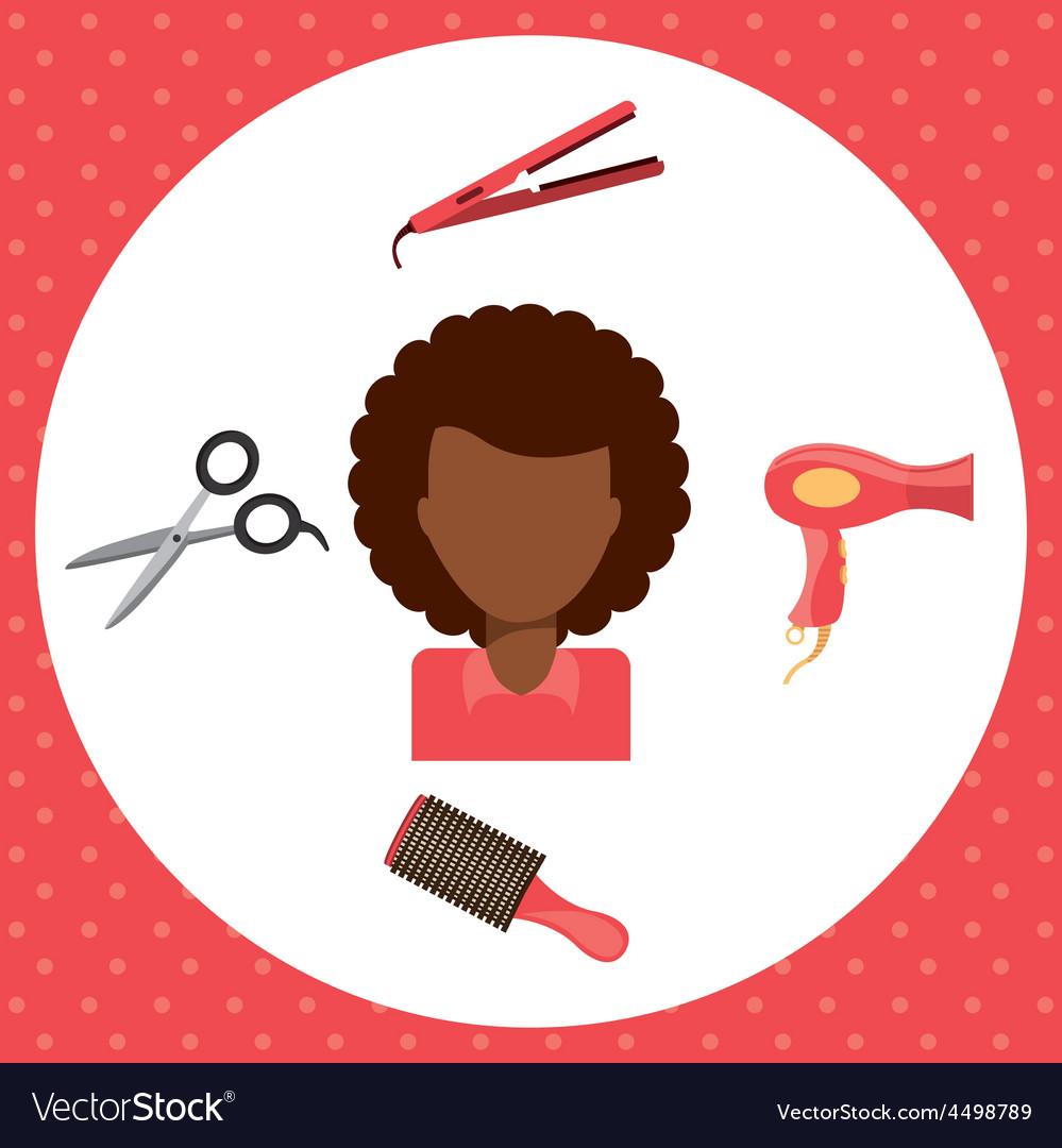 Hair dressing vector | Price: 1 Credit (USD $1)