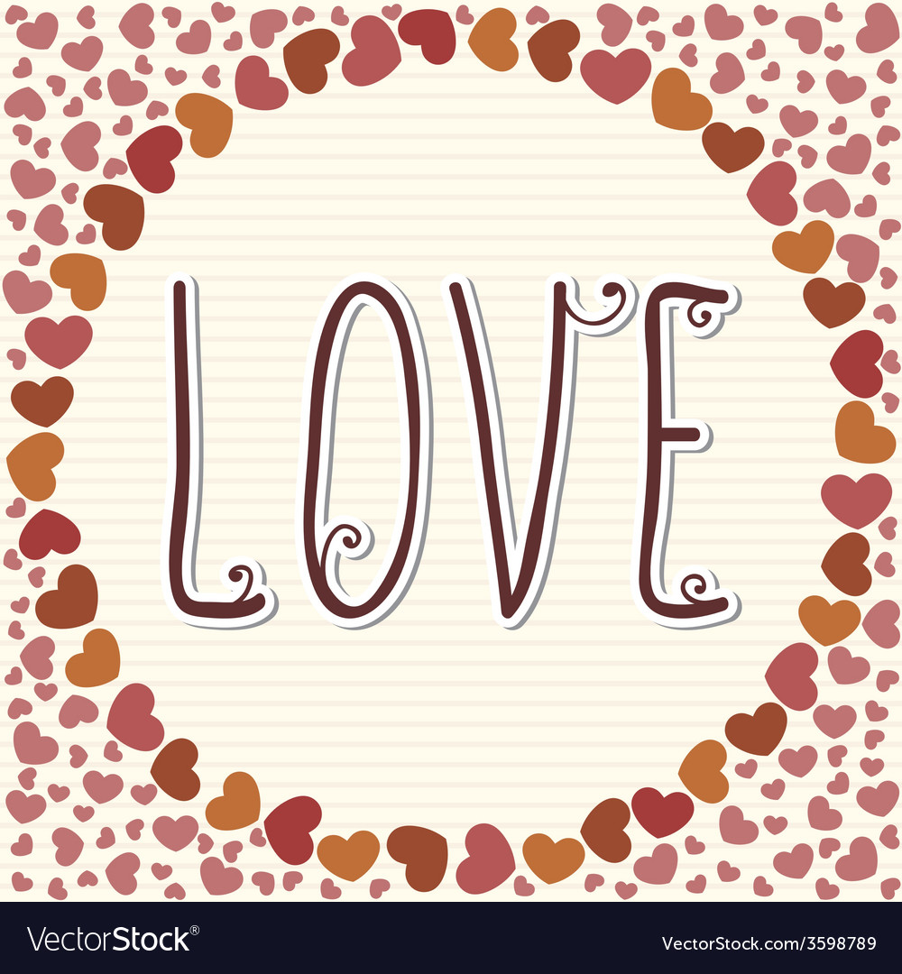 Love frame vector | Price: 1 Credit (USD $1)
