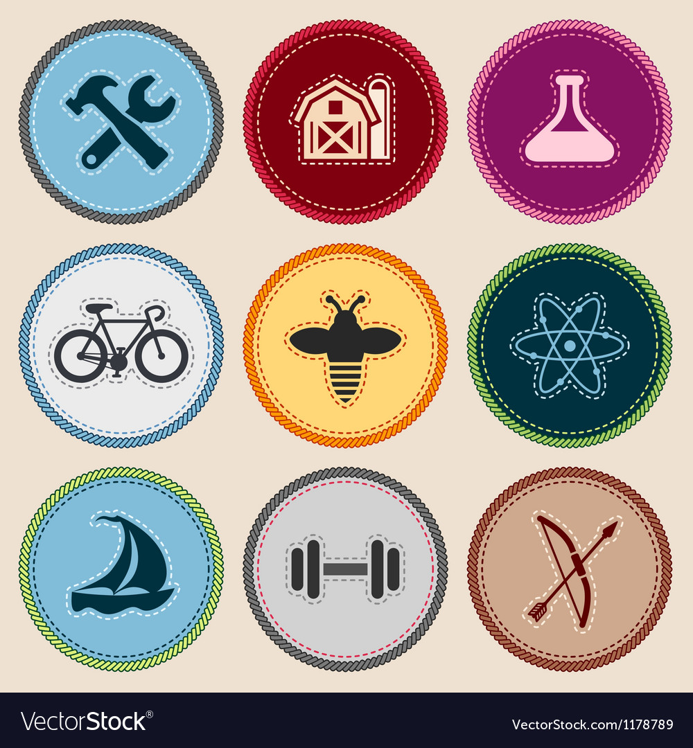 Merit badges vector | Price: 3 Credit (USD $3)
